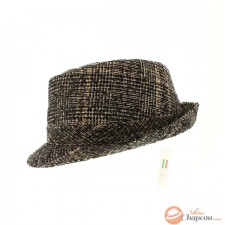 Fancy check trilby