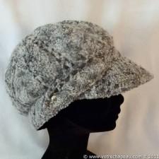 Gorra de lana ocho canales