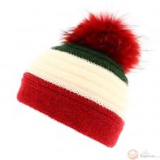 Berretto - Bonnet vert blanc rouge