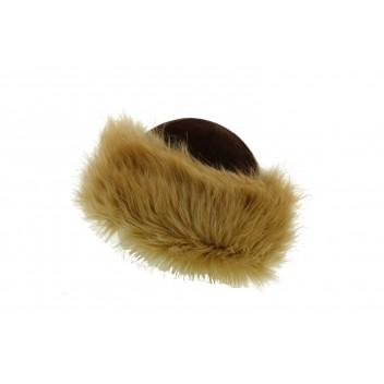 Gorro invierno con bonete terciopelo y piel falsa