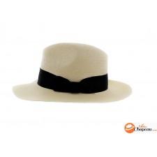 Rivera - Chapeau fédora type panama avec bandeau