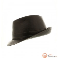 Trilby impermeable marrón aspecto antiguo