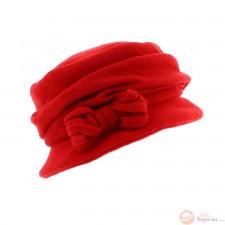 Cappello donna lana cotta con fiocco
