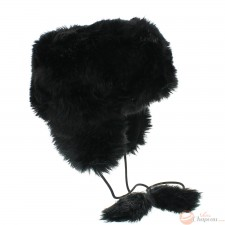 Chapka donna in finta pelliccia con pompon