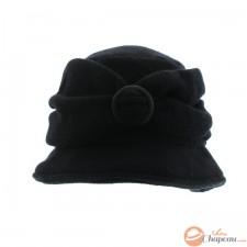 Cappello cloche maglia con anello