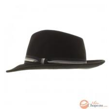 Chapeau feutre classique ruban rayé