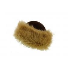 Colbacco con calotta velluto e finta pelliccia
